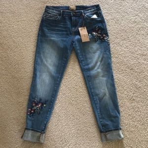 Free People Jeans - NWOT FP Embroidered Jeans